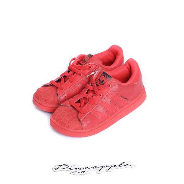 """ADIDAS - Superstar I """"Triple Red"""" (Infantil) -USADO-"""