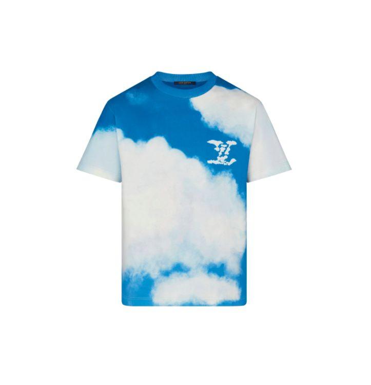 """LOUIS VUITTON - Camiseta Cloud """"Azul"""" -NOVO-"""