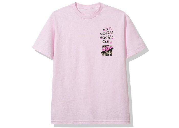 "ANTI SOCIAL SOCIAL CLUB x UNDEFEATED - Camiseta 2015 (FW19) ""Rosa"" -NOVO-"