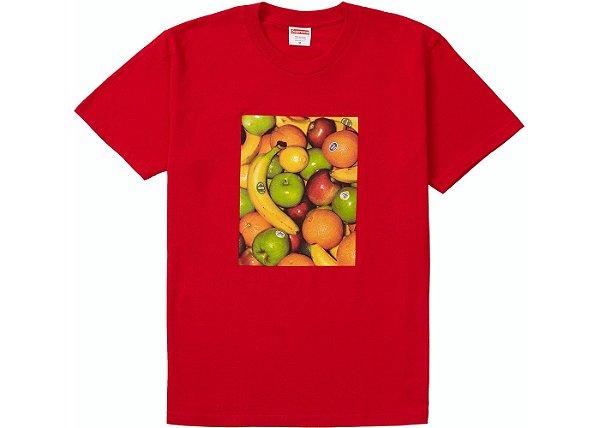 """SUPREME - Camiseta Fruit """"Vermelho"""" -NOVO-"""