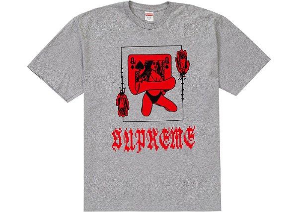 """SUPREME - Camiseta Queen """"Cinza"""" -NOVO-"""
