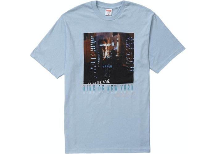 "SUPREME - Camiseta King of New York ""Azul Claro"" -NOVO-"