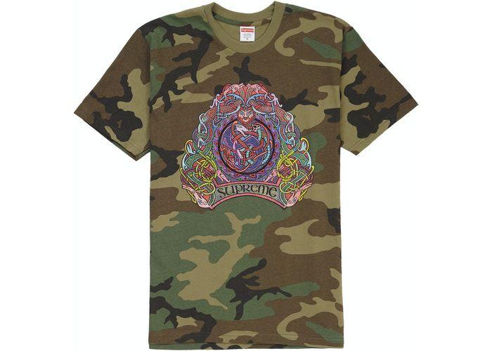 """SUPREME - Camiseta Knot """"Camo"""" -NOVO-"""