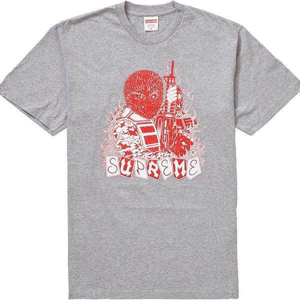 """SUPREME - Camiseta Mercenary """"Cinza"""" -NOVO-"""