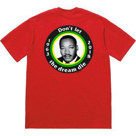 """SUPREME - Camiseta MLK Dream """"Vermelho"""" -NOVO-"""