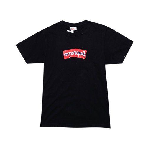 """SUPREME x COMME DES GARÇONS - Camiseta Box Logo """"Preto"""" -USADO-"""