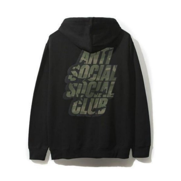 "ANTI SOCIAL SOCIAL CLUB - Moletom Blocked Green Camo ""Preto"" -NOVO-"