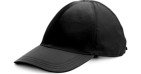 """PRADA - Boné Baseball Incorporated Style Nylon """"Preto"""" -USADO-"""