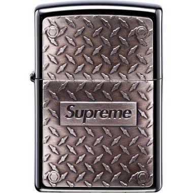 """SUPREME x ZIPPO - Isqueiro Diamond """"Plate"""" -NOVO- (Sem caixa)"""