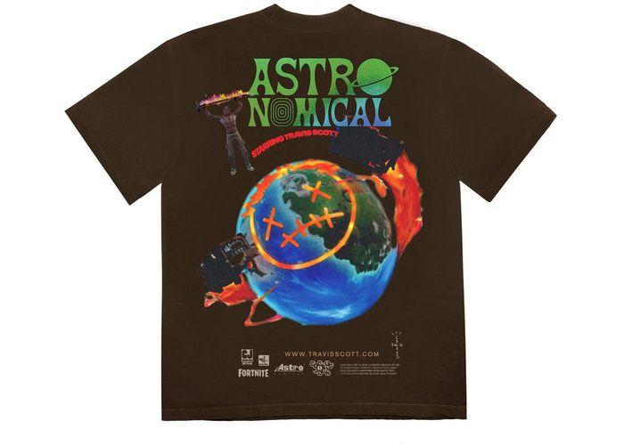 """TRAVIS SCOTT - Camiseta The Scotts Sicko Event """"Marrom"""" -NOVO-"""
