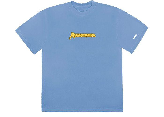 """TRAVIS SCOTT x FORTNITE - Camiseta The Scotts Astro Goosebumps """"Azul"""" -NOVO-"""