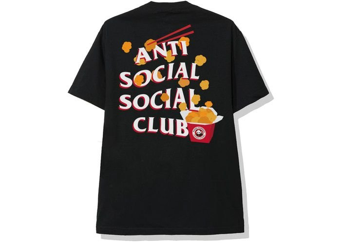 "ANTI SOCIAL SOCIAL CLUB x PANDA EXPRESS - Camiseta Panda Express ""Preto"" -NOVO-"