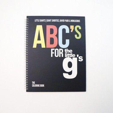LITTLE GIANTS - Livro De Colorir ABC's For The Little G's -NOVO-
