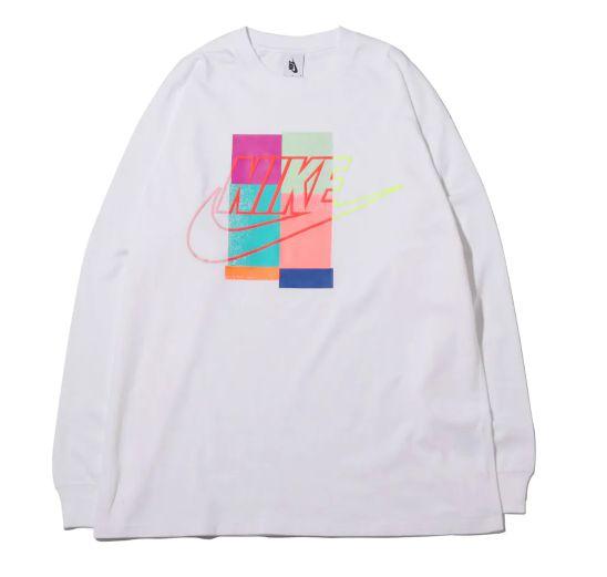 """NIKE x ATMOS - Camiseta Manga Longa """"Branco"""" -NOVO-"""