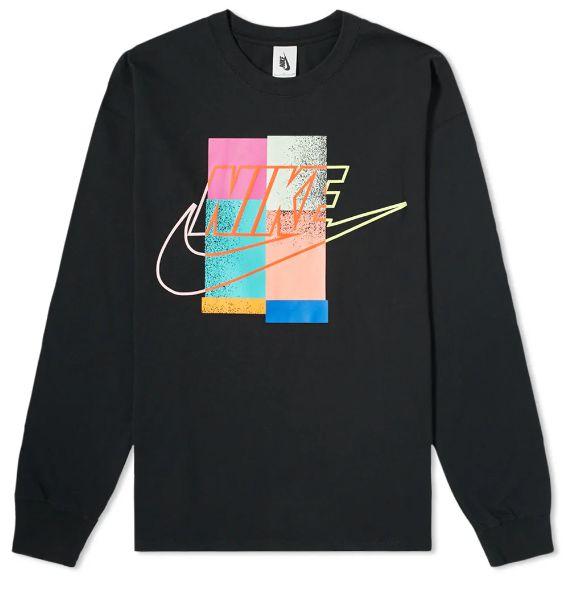 """NIKE x ATMOS - Camiseta Manga Longa """"Preto"""" -NOVO-"""