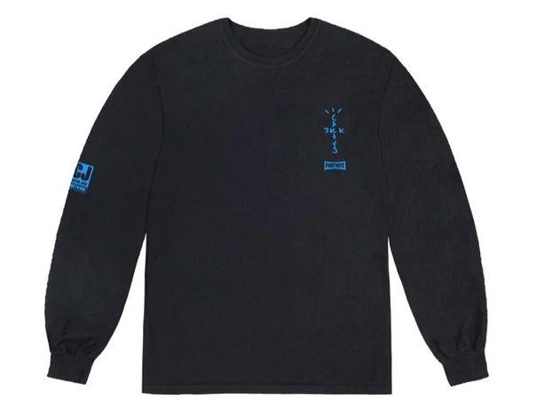 "TRAVIS SCOTT - Camiseta Manga Longa Portal ""Preto"" -NOVO-"