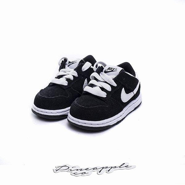 """NIKE - Dunk Low TD """"Black"""" (Infantil) -NOVO-"""