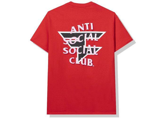 """ANTI SOCIAL SOCIAL CLUB x FAZE CLAN  - Camiseta """"Vermelho"""" -NOVO-"""