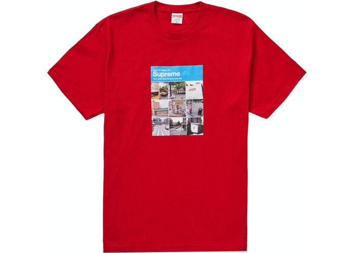 """SUPREME - Camiseta Verify """"Vermelho"""" -NOVO-"""