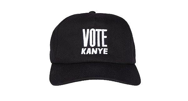 """KANYE WEST - Boné Vote Kanye """"Preto"""" -NOVO-"""