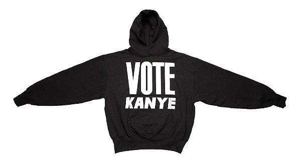 """KANYE WEST - Moletom Vote Kanye """"Preto"""" -NOVO-"""