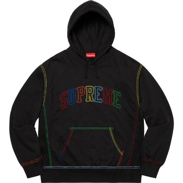 "SUPREME - Moletom Big Stitch ""Preto"" -NOVO-"