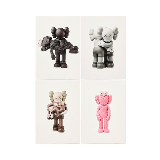 """KAWS - Kit c/4 Cartões Postais """"Vinyl Figures"""" -NOVO-"""
