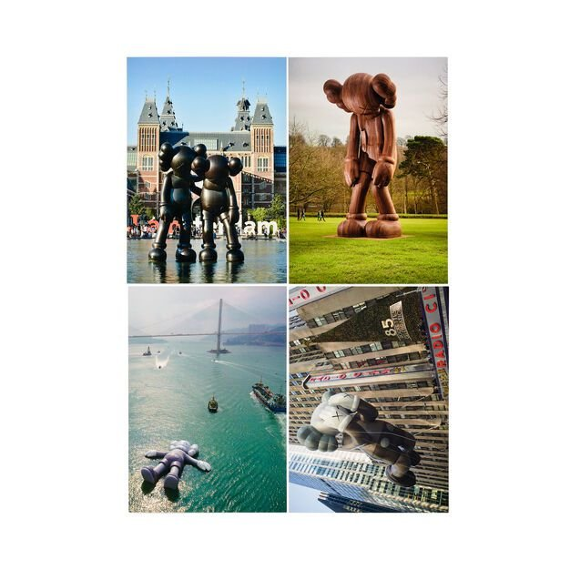 "!KAWS - Kit c/4 Cartões Postais ""Monumental Sculptures"" -NOVO-"