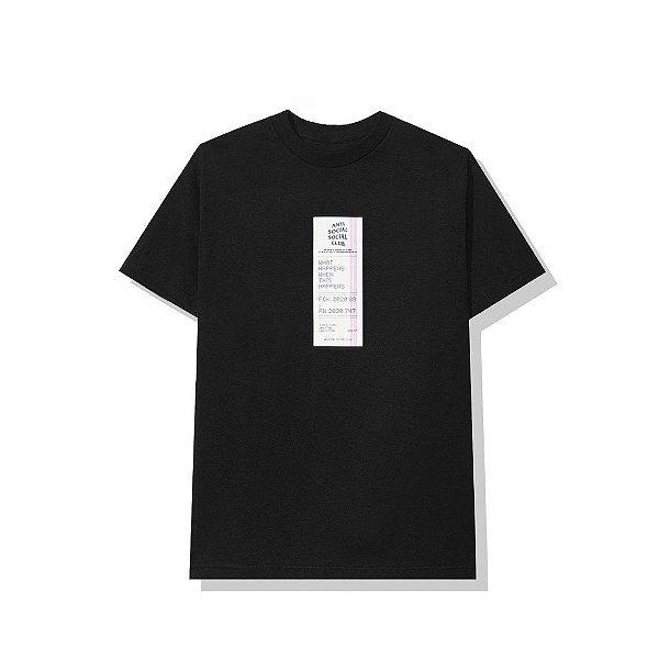 "ANTI SOCIAL SOCIAL CLUB - Camiseta Read Receipts ""Preto"" -NOVO-"