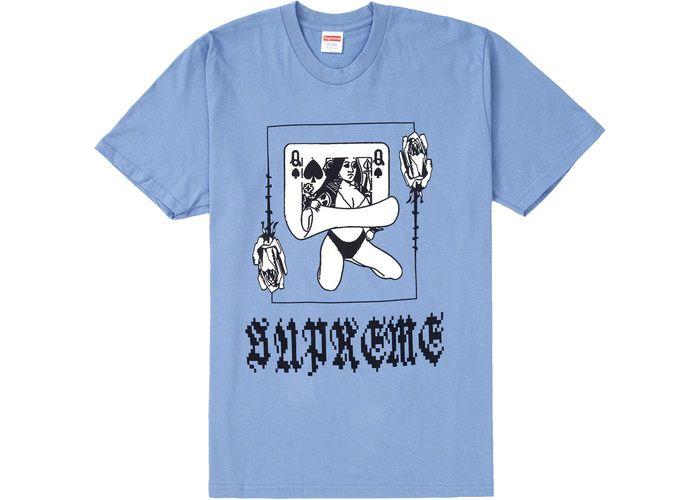 """SUPREME - Camiseta Queen """"Azul"""" -NOVO-"""