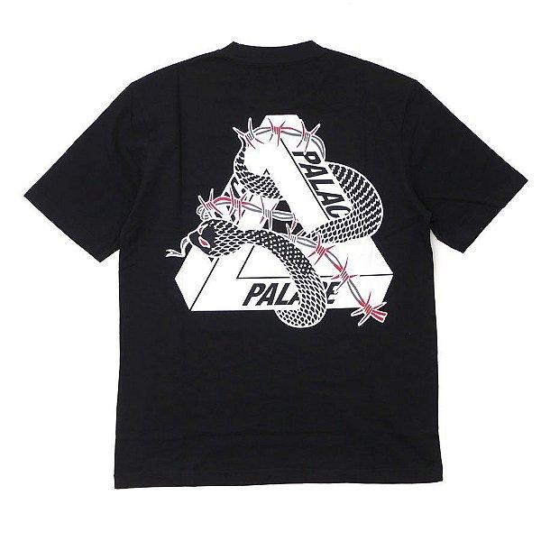 "PALACE - Camiseta Hesh Mit Fresh ""Preto"" -USADO-"