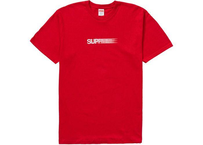 """SUPREME - Camiseta Motion Logo """"Vermelho"""" -NOVO-"""