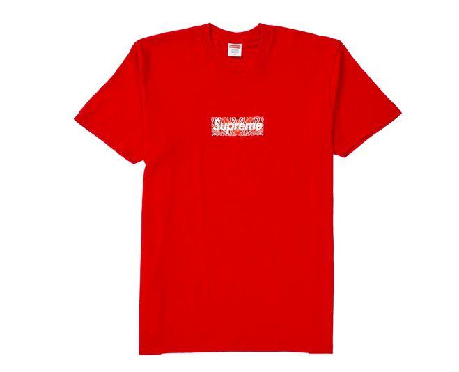 "SUPREME - Camiseta Bandana Box Logo ""Vermelho"" -NOVO-"