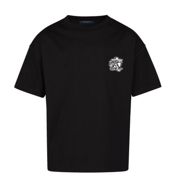 "LOUIS VUITTON - Camiseta Smoke Printed ""Preto"" -NOVO-"