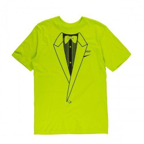 """NIKE x OFF-WHITE - Camiseta NRG A6 """"Verde Limão"""" -USADO-"""