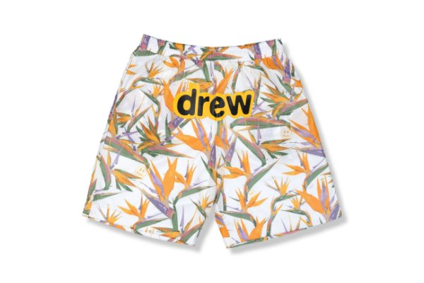 "DREW HOUSE - Bermuda Mesh Birds of Paradise ""Branco"" -NOVO-"