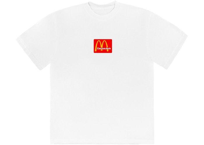 "TRAVIS SCOTT x MCDONALD'S - Camiseta Sesame ""Branco"" -NOVO-"
