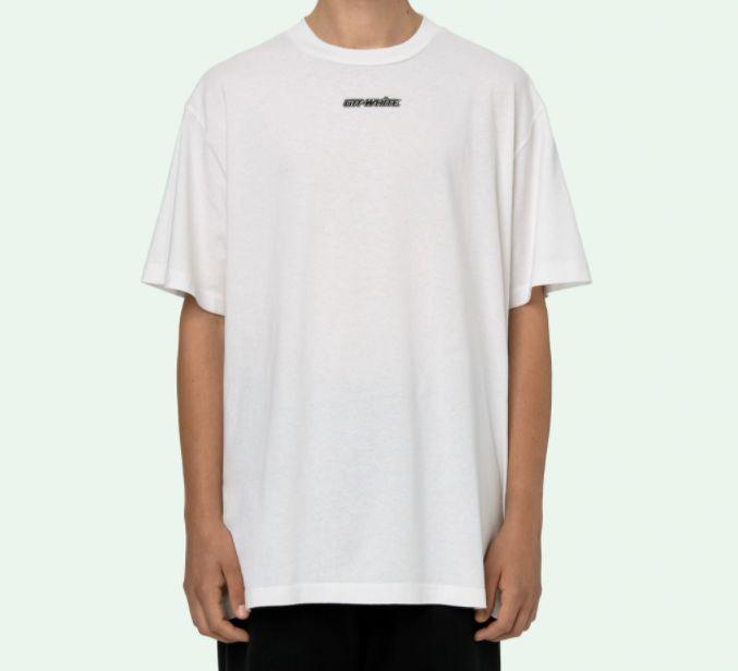 "!OFF-WHITE - Camiseta Marker Over ""Branco/Vermelho"" -NOVO-"