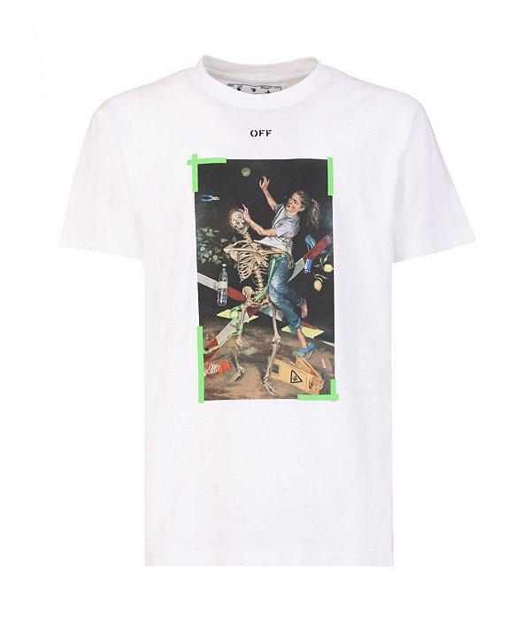 "!OFF-WHITE - Camiseta Pascal Print Over ""Branco"" -NOVO-"