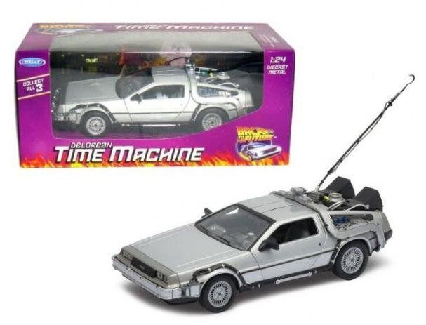 """!WELLY - Carro Delorean Time Machine """"Back to the Future I"""" -NOVO-"""