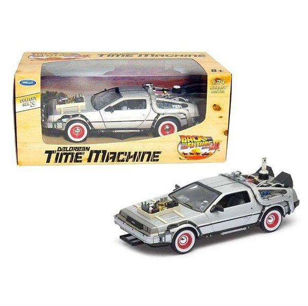 """WELLY - Carro Delorean Time Machine """"Back to the Future III"""" -NOVO-"""