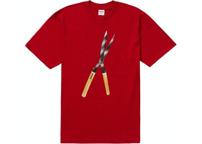 "SUPREME - Camiseta Shears ""Vermelho""  -NOVO-"