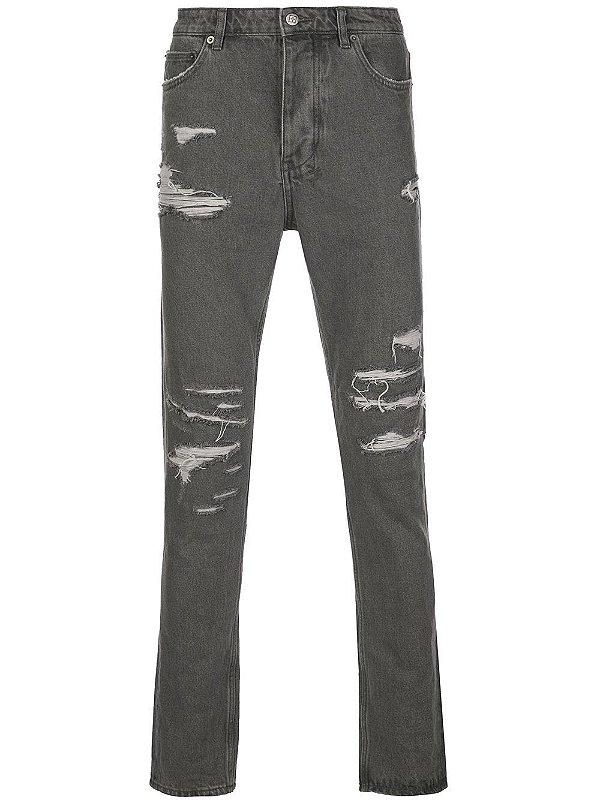 """KSUBI - Calça Jeans Chitch Fire Starter """"Cinza""""  -USADO-"""