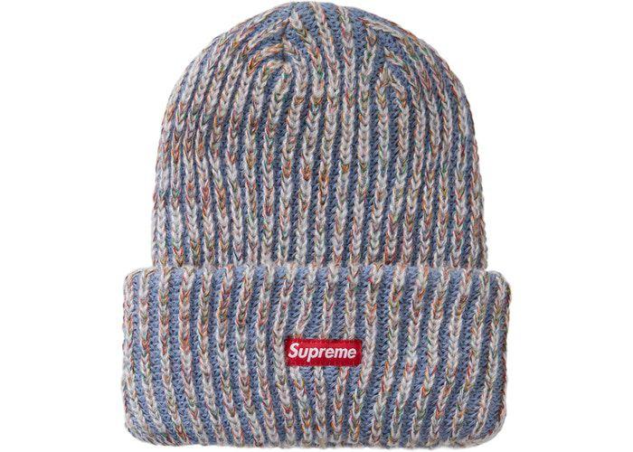 "SUPREME - Touca Rainbow Knit Loose Gauge ""Azul Claro"" -NOVO-"