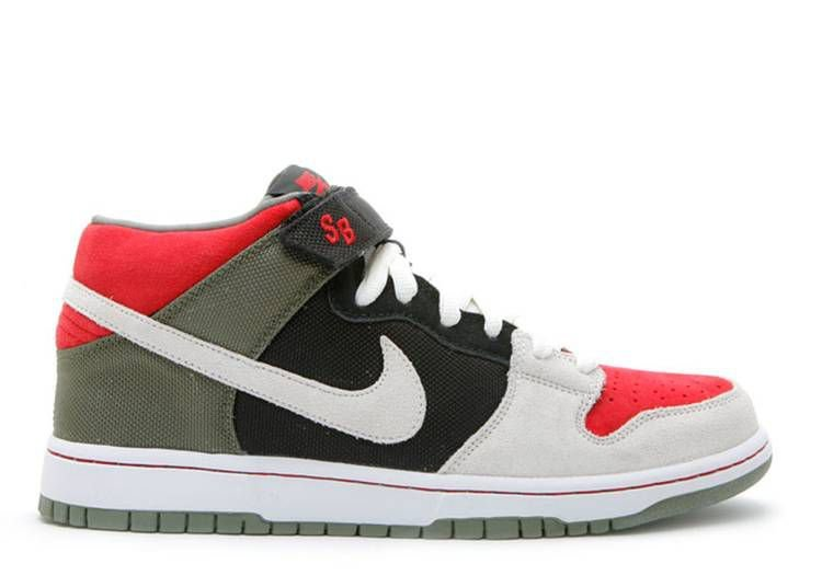 "NIKE - SB Dunk Mid ""Black/Sail/Varsity Red"" -NOVO-"