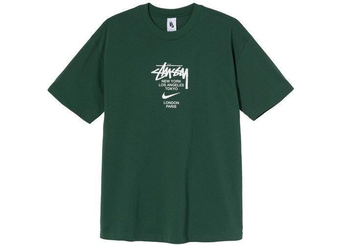 """NIKE X STUSSY - Camiseta International """"Verde"""" -NOVO-"""