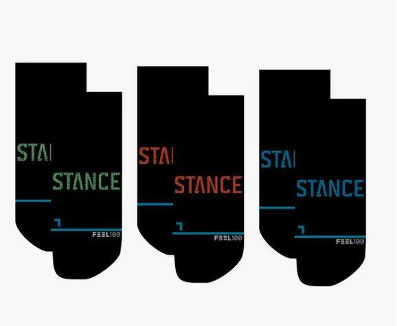 """STANCE - Meia Prime Tab Colors (Pack com 3) """"Preto"""" -NOVO-"""