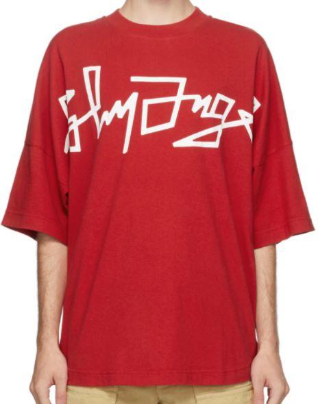 """!PALM ANGELS - Camiseta Desert Over Logo """"Vermelho"""" -NOVO-"""