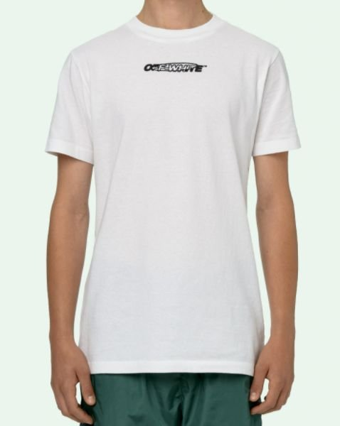 "!OFF-WHITE - Camiseta Hand Painters Slim ""Branco"" -NOVO-"