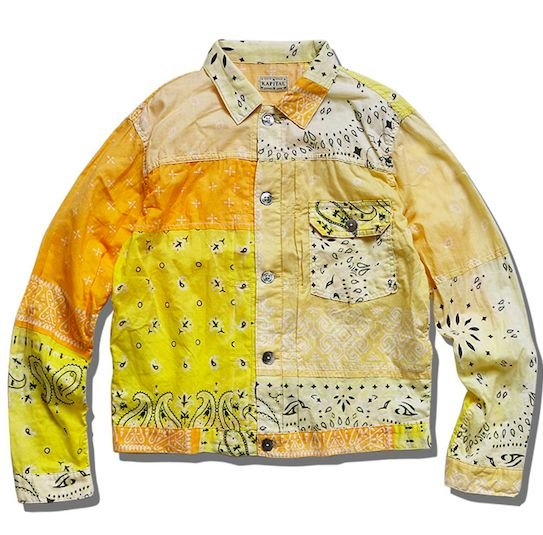 "KAPITAL - Camisa Patchwork Bandana ""Amarelo"" -USADO-"